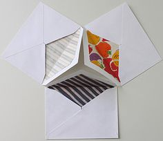 envelopes with vintage wallpaper interiors