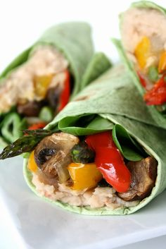 Bell peppers, onion, sliced mushrooms, asparagus, cherry tomatoes, baby spinach..