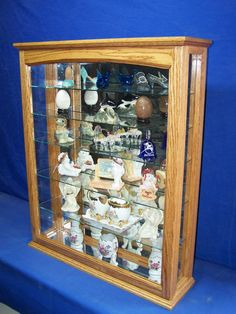 Items similar to Oak Wall Hanging or Tabletop Curio Cabinet on Etsy Wall Curio Cabinet, Liquor Cabinet, Wall Display Case, Wood Cabinets, Curio Cabinets, Golden Oak, Custom Woodworking, Storage, Glass