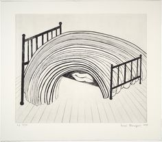 Bed #1   Louise Bourgeois  1997. Drypoint and engraving