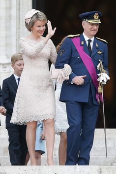 King Philippe and Queen Mathilde of Belgium attend Te Deum service of National Day. 7/21/16