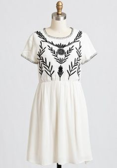 Summer Wind Embroidered Dress