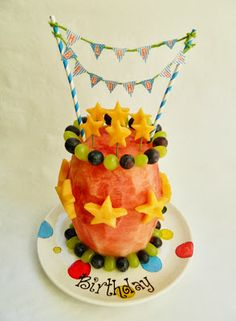 Kitchen Fun With My 3 Sons: Fruit Birthday Cake
