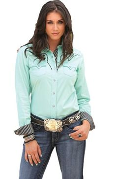 3ae5b42a Cruel Girl Western Shirt Womens Scoop Elbow Sleeve Brown CTW9272001 at Amazon  Women's Clothing store: