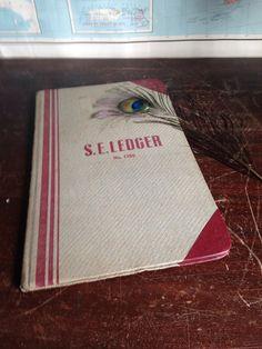 Vintage Blank S.E. Ledger Book by TimelessVintageRose on Etsy
