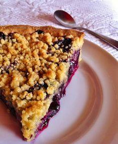 Crumble pie aux myrtilles