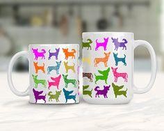 Chihuahua Lover Mug Colorful Chihuahua Dog Mug Animal Lover