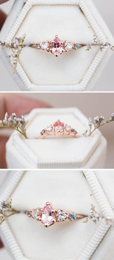All Kinds of Hairstyles for Women - Best Trends Alexandrite Engagement Ring, Leaf Engagement Ring, Alternative Engagement Rings, Perfect Engagement Ring, Beautiful Engagement Rings, Designer Engagement Rings, Pear Ring, Ring Verlobung, Peach Sapphire