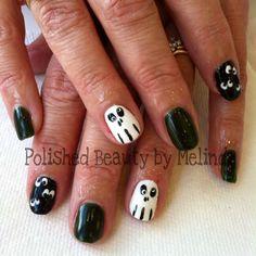 Halloween Shellac Nails
