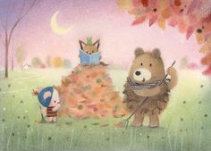 Leading Illustration & Publishing Agency based in London, New York & Marbella. Autumn Illustration, Fantasy Illustration, Cute Illustration, Hand Applique, All Things Cute, Cute Drawings, Cute Art, Art For Kids, Creations