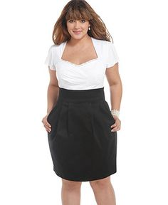 Trixxi Plus Size Dress, Short Sleeve Gathered Pleated - Plus Size Dresses - Plus Sizes - Macys