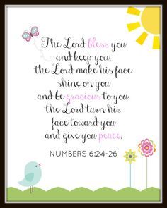 Numbers - Blessings & Prayers for a peaceful day full of the love of our Lord. Bible Verses For Girls, Favorite Bible Verses, Scripture Verses, Bible Verses Quotes, Jesus Quotes, Bible Scriptures, Faith Quotes, Faith Bible, Words Of Encouragement
