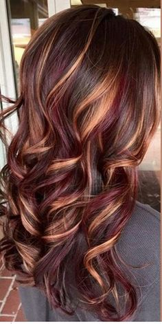 Ruby, Brown and Gold Highlights