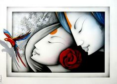 "Fabulous artwork available on IndianArtCollectors.com! ""Love_55"" by Prakash K Mixed Media On Canvas, Size(inches): 45X33 See more artworks by Prakash k at: http://www.indianartcollectors.com/artist/PrakashK"