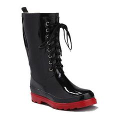 Henry Ferrera Laces Rain Boots