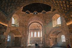 Viewers take in the interior of the Rotonda of Galerius in Thessaloniki, Greece Thessaloniki, Christian World, Christian Faith, Audio Engineer, Hagia Sophia, Famous Architects, Byzantine, Roman Empire, Romans