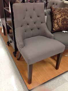 Grey Button Dining Chair From TJ Maxx