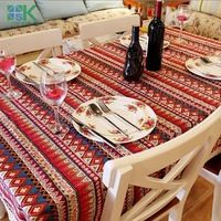 2016 New Arrival Style Pastoralism Dinning Table Cloth Tablecloth Nature Leaves and Plaid Cotton Linen Table Cover , freee shipp