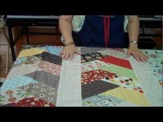 Friendship Braid Quilt Idea Using Half Hex Ruler. What a quick and easy project!