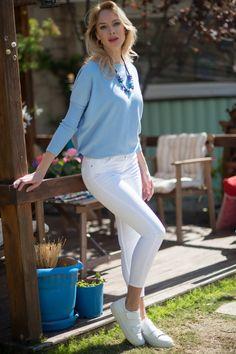 Sezonun moda rengi beyaz jean de ZDN JEANS'de..