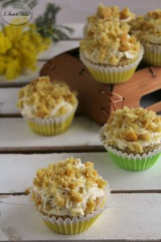 Mimosa cupcakes - Senza lattosio