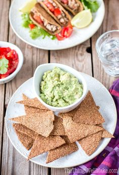 Easily make these crispy, flaxseed vegan and paleo tortilla chips and taco shells in less than 30 minutes, using just three simple ingredients!