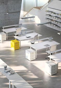 Meta white office desks