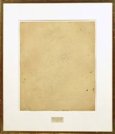 """Robert Rauschenberg, Erased de Kooning Drawing, 1953 --""""When he finished his erasure, some folks accused him of vandalizing a de Kooning, saying he destroyed art. It wasn't vandalism, he tells the interviewer. Then what was it? """"Poetry,"""" he says."""""""