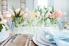 A Sophisticated Easter Table Inspired By The Colors Of Spring designed by Calder Clark