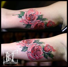 #tatuaz #watercolor #tattoo #rose #róża #warszawa #warsaw #akwarela #kwtattoo