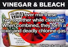 Click on link to see details.  Mixing Bleach with almost anything causes it to release toxic Chlorine Gasses.