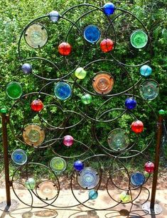 Need a recycled bottle garden gate