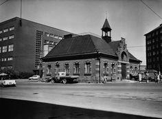 1963 . Kampin paloasema, Kampin tori. Paloaseman on suunnitellut Magnus Scherfbeck, 1893. Purettu 1960 -luvulla.