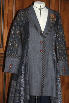 Refashioned men's sportcoat and sweaters