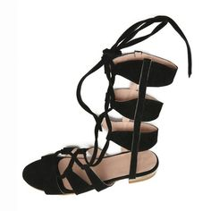 Summer Faux Suede Ankle Strappy Gladiator Women Flat Sandals Fashion Casual Woman Beach Shoes 2017 Newest