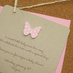 Baby shower invite - Butterfly  I even have the butterflies cut out from the cricut I think!