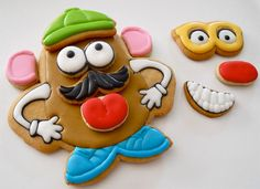 Play with your food using these Mr. Potato Head cookies.