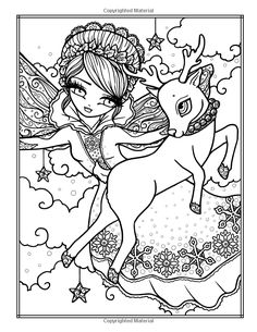A Whimsy Girls Christmas Coloring Book: Festive Girls, Fairies, & Blank Coloring Pages, Fairy Coloring Pages, Printable Adult Coloring Pages, Colouring Pics, Coloring Books, Kids Coloring, Christmas Coloring Sheets, Creative Embroidery, Colorful Drawings