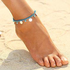 Punk Vintage Boho Beach Barefoot Sandal Foot Anklet Tassel Ankle Bracelet Chain #ebay #Fashion