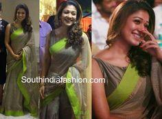 Boat neck sari blouse