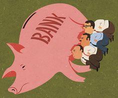 Illustrations satiriques des problèmes courants de la société