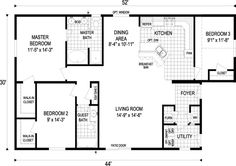 small house floor plans 1000 to 1500 sq ft | 1,000 - 1,500 SQ. FT. FLOOR PLAN: Kimberly | 1,440 sq. ft. | 3 bdrms ...