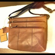 G.H. Bass&Co Genuine leather crossbody Brand new with tags! Bags Crossbody Bags
