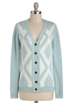 Monday Morning Sky Cardigan. Start fresh this week in a light-blue, knit cardigan, soft and luscious like the Monday morning sky. #blue #modcloth