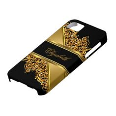iPhone 5 Elegant Classy Gold Lace iPhone 5 Covers