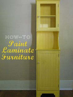 Oleander and Palm: Painting Laminate Furniture.... DIY repaint & refresh