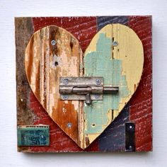 heart art primitive shabby chic chippy paint ORIGINAL ART by Elizabeth Rosen – House Decor Tips Arte Pallet, Pallet Art, Original Art, Original Paintings, Heart Crafts, Driftwood Art, Primitive Crafts, Wooden Crafts, Wooden Art