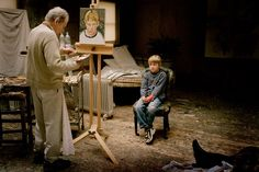 Albie Sitting for his Grandfather, 2004 - what a gorgeous photo. i love the idea of someone calling lucian freud grandpa.