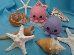Los mundos de Esthercita: Los pulpos Ice Tray, Sugar, Cookies, Food, Octopuses, Plushies, Felting, Crack Crackers, Eten