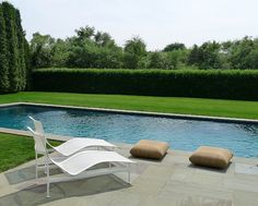 Modern and simple pool landscaping